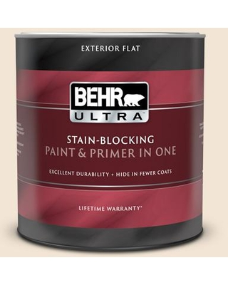 BEHR ULTRA 1 qt. #PPU5-11 Delicate Lace Flat Exterior Paint and Primer in One