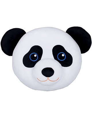 Wildkin Kids Plush Throw Pillow for Boys and Girls, Perfect for Cozy Cuddles, Plush Pillow Features Soft Microfiber Material, Playful Vibrant Design, and Embroidered Details, Olive Kids (Panda)