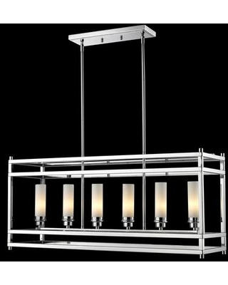 """Altadore 180-6 9.85"""" 6 Light Pendant Contemporary Metropolitanhave Steel Frame with Chrome finish in Matte"""