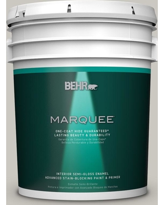 BEHR MARQUEE 5 gal. #PPU24-12 Whitewash Oak Semi-Gloss Enamel Interior Paint and Primer in One