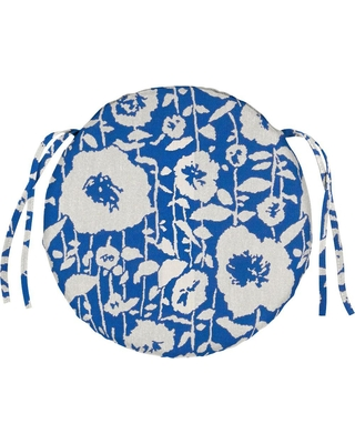 Home Decorators Collection 15 x 15 Outdoor Chair Cushion in Sunbrella Andy Cobalt
