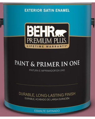 Shopping Special For Behr Premium Plus 1 Gal 100d 5 Berries And Cream Satin Enamel Exterior Paint And Primer In One