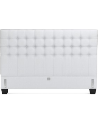 Fairfax Headboard Only, King, Brushed Canvas, White