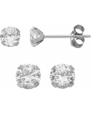 21f8fe8cd Special Prices on Taylor Grace Cubic Zirconia 10k White Gold Stud ...