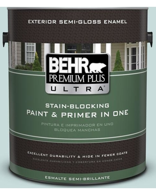 BEHR ULTRA 1 gal. #S440-1 Sunken Pool Semi-Gloss Enamel Exterior Paint and Primer in One