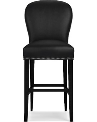 Maxwell Bar Stool without Handle, Classic Leather, Black