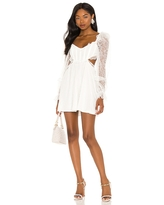 For Love & Lemons X REVOLVE Cutout Mini Dress in White. - size S (also in L, M, XS)