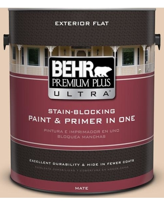 BEHR ULTRA 1 gal. #PPU3-06 Venetian Mask Flat Exterior Paint and Primer in One