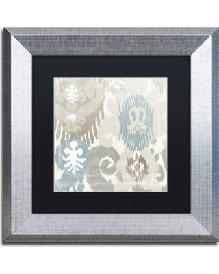"""Trademark Fine Art """"Beach Curry I"""" Canvas Art by Color Bakery, Black Matte, Silver Frame"""