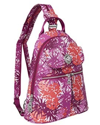 Baggallini Women's Naples Convertible Backpack, Eco Plum Thistle, One Size