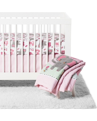 Bedtime Originals 3pc Twinkle Toes Crib Bedding Set - Pink