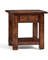 Benchwright Square Side Table, Rustic Mahogany