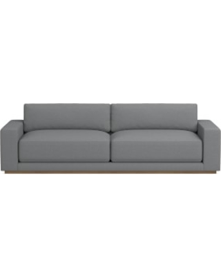 "Berkshire 110"" Sofa, Down Cushion, Perennials Performance Basketweave, Grey, Truffle"