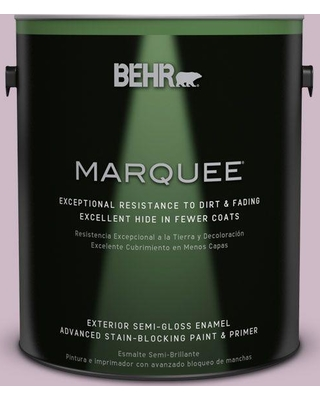 BEHR MARQUEE 1 gal. #S110-3 Queens Violet Semi-Gloss Enamel Exterior Paint and Primer in One
