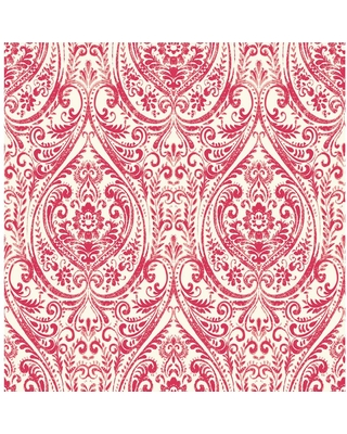 MANHATTAN COMFORT INC Cotati, Red Gypsy Damask Paper Strippable Wallpaper Roll (Covers 56.4 sq. ft.)