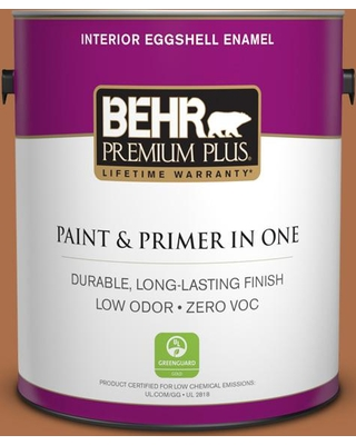 BEHR PREMIUM PLUS 1 gal. #260D-7 Copper Mountain Eggshell Enamel Low Odor Interior Paint and Primer in One