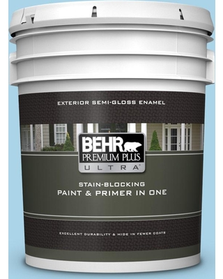 BEHR ULTRA 5 gal. #550C-3 Monaco Semi-Gloss Enamel Exterior Paint and Primer in One