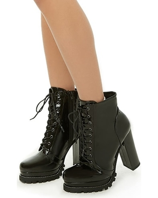 471ed096993 FOREVER21 High Heel Combat Boots from Forever 21 | People