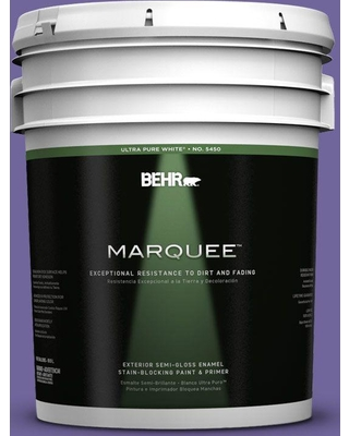 BEHR MARQUEE 5 gal. #630B-7 Pandora Semi-Gloss Enamel Exterior Paint and Primer in One