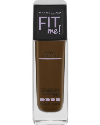 Maybelline Fit Me Dewy + Smooth Liquid Foundation Makeup with SPF 18, Java, 1 fl oz