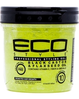 Eco Style Black Castor & Flaxseed Oil Gel - 16 fl oz