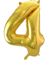 Light Gold Foil Balloon Number 4 - Spritz