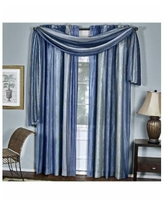 Ombre Window Curtain Scarf, 50x144 - Blue