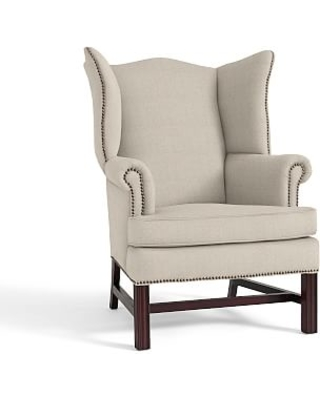 Thatcher Upholstered Armchair, Polyester Wrapped Cushions, Performance Everydaylinen(TM) by Crypton(R) Home Oatmeal