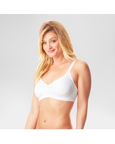 Simply Perfect by Warner's Women's Underarm Smoothing Seamless Wireless Bra White S
