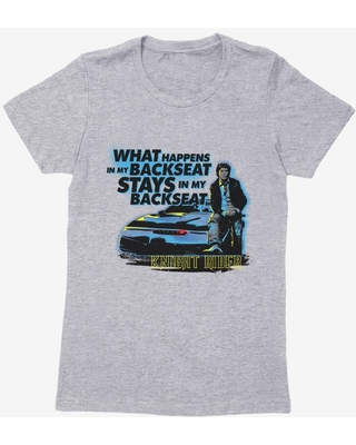 Knight Rider What Happens In The Backseat Womens T-Shirt