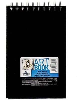 """Canson Art Book All Media Watercolor Sketch Books, 5 1/2"""" x 8 1/2"""", Heavy Weight, 40 Sheets, 2/Pack (60525-PK2)"""