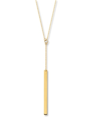 Jared Bar Necklace 14K Yellow Gold