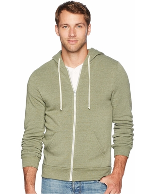 Alternative Rocky Eco-Fleece Zip Hoodie (Eco True Army Green) Men's Sweatshirt