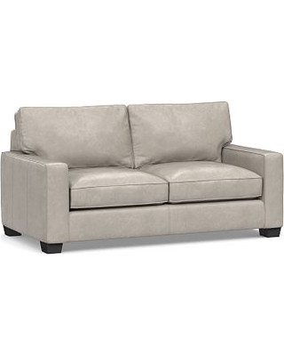 Pleasant Pb Comfort Square Arm Leather Loveseat 62 Polyester Bralicious Painted Fabric Chair Ideas Braliciousco