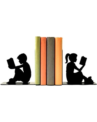 Boy and Girl Reading Bookends