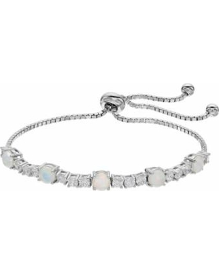 00d9d3337 Hello Spring! 60% Off Sterling Silver Lab-Created Opal Bolo Bracelet ...