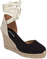 Women's Soludos Wedge Lace-Up Espadrille Sandal, Size 8.5 M - Black