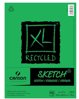 """Canson® Xl® Recycled Sketch Pad in White 