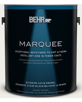 BEHR MARQUEE 1 gal. Home Decorators Collection #HDC-AC-06G Hacienda White Satin Enamel Exterior Paint & Primer