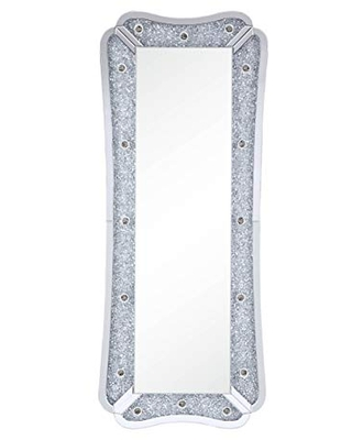 Acme Furniture Noralie Wall Mirror, Mirrored & Faux Diamonds