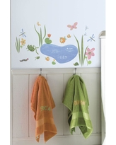 5 in. x 11.5 in. Hoppy Pond Peel and Stick Wall Decal, Multi