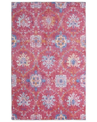 Mohawk Home Prismatic Amherst Pink Transitional Floral Precision Printed Area Rug, 5'x8', Pink