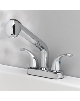 OakBrook Essentials Two Handle Laundry Faucet with Pullout Sprayer