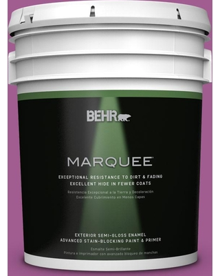 BEHR MARQUEE 5 gal. #P110-6 Wild Berry Semi-Gloss Enamel Exterior Paint and Primer in One