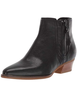 Cole Haan Women's HADLYN Bootie Ankle Boot, Black Leather, 5.5 B US