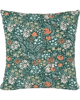 Green Floral Throw Pillow - Cloth & Co., Cameila Multi Green
