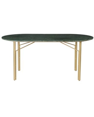 Verde Collection BZ-1091-16 Dining Table with Gold Finished Iron Legs in Green