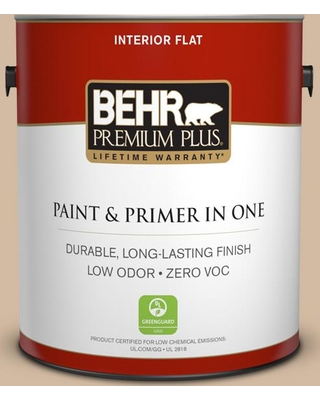 BEHR Premium Plus 1 gal. #N270-3 Coco Flat Low Odor Interior Paint and Primer in One