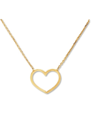 Jared The Galleria Of Jewelry Heart Necklace 14K Yellow Gold
