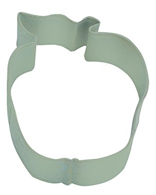 """R&M Apple 2.5"""" Cookie Cutter Mint With Brightly Colored, Durable, Baked-on Polyresin Finish"""